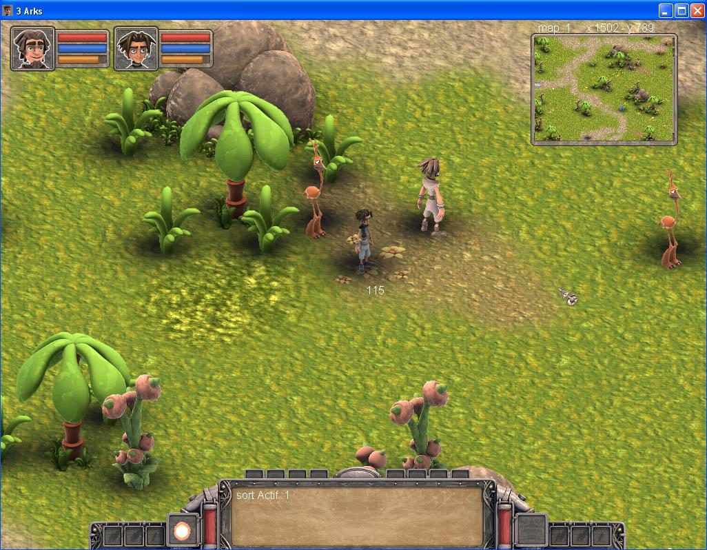Arkeos Chronicle / 3 Arks -  Aventure RPG (moteur 2D iso) IngameUI03