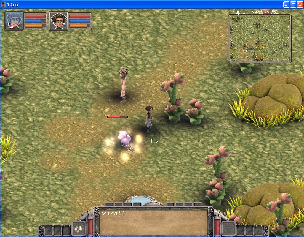 Arkeos Chronicle / 3 Arks -  Aventure RPG (moteur 2D iso) IngameUI04