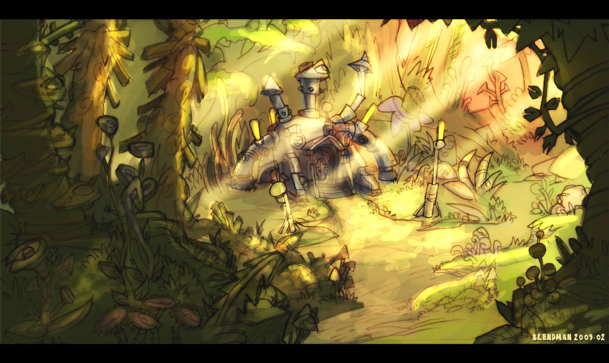 Fantasy Houses Drawing 3 Arks a Fantasy Cartoon